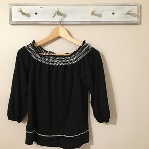 White House Black Market Off the Shoulder Top
